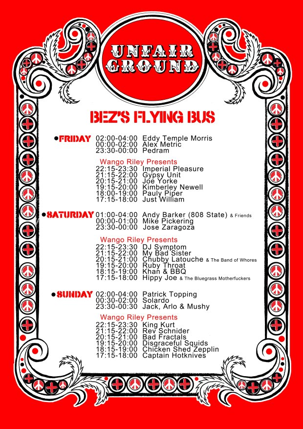 A3 Poster - Bez's Flying Bus